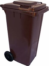 The-Wheelie-Bin-Company Wheelie Bin 120L Dark Brown