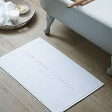 The White Company Signature Bath Mat, White, Medium