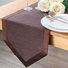 The White Petals Dark Brown Kitchen Table Runners