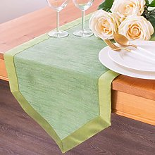 The White Petals Light Green Extra Long Table
