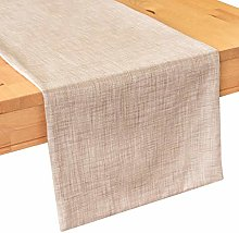 The White Petals Oatmeal Dining Table Runners