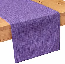 The White Petals Purple Coffee Table Runners