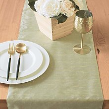 The White Petals Sage Green Coffee Table Runners