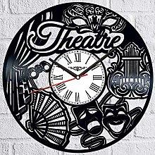 Theatre Vinyl Record Wall Clock Retro style Wall