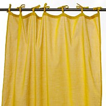 Thedecofactory 105015 Curtain Polyester Yellow 105