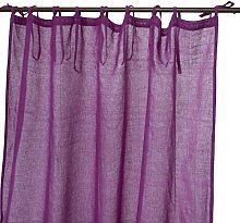 Thedecofactory 150314 Curtain Polyester Purple 150