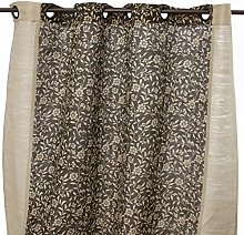 Thedecofactory 151281 Curtain Polyester Brown 150