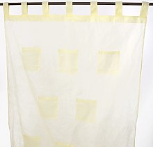 Thedecofactory Polyester Curtain 110464 Yellow 110