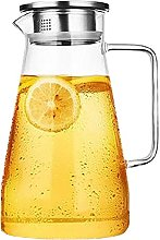 THEE Glass Jug Water Carafe Tea Brewing Filter Hot