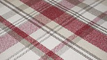 TheFabricTrade Cranberry Red Tartan Plaid Check