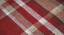TheFabricTrade Dark Red Tartan Plaid Check Tweed