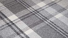 TheFabricTrade Dove Grey Charcoal Tartan Plaid