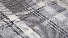 TheFabricTrade Dove Grey Charcoal Tartan Plaid