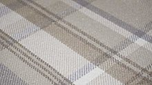 TheFabricTrade Natural Taupe Tartan Plaid Check