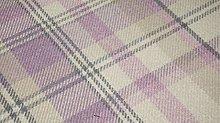 TheFabricTrade Pink Mauve Tartan Plaid Check Tweed