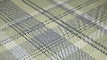 TheFabricTrade Sage Green Tartan Plaid Check Tweed