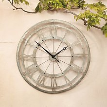 Theis Xl Roman Numeral Garden Clock Sol 72 Outdoor