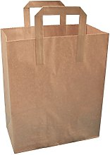 Thepaperbagstore 125 LARGE BROWN KRAFT PAPER (TM)