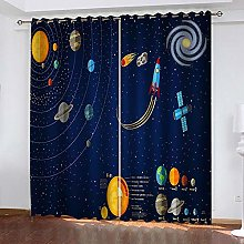 Thermal Blackout Curtain, Blue Room 183 (W) x 214