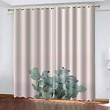 Thermal Blackout Curtain White Cactus 234 (W) x