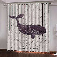 Thermal Blackout Curtain, White Whale, 183 (W) x