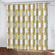 Thermal Blackout Curtain, Yellow Pineapple 234 (W)