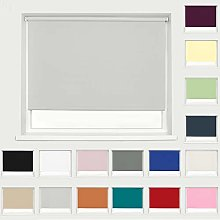 Thermal Blackout Fabric Roller Blind Light Grey
