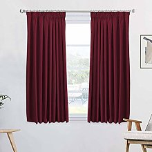 Thermal Insulated Bedroom Blackout Curtains Pencil