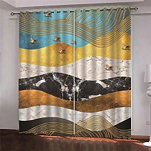Thermal Insulated Blackout Curtain Colour Marble