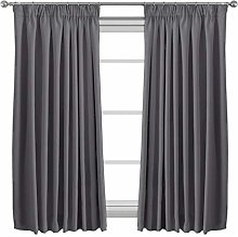 Thermal Insulated Blackout Curtains Pencil Pleat
