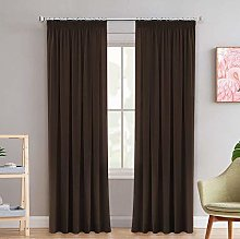 Thermal Insulated Grey Blackout Curtain Panels for
