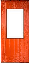 Thermal Insulation Door Curtain with Window