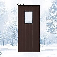 Thermal Insulation Door Curtain with Window Oxford