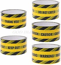 Thermometer Hand Sign -1 Roll 25M Yellow Warning