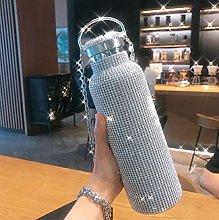 Thermos Cup,Diamond Thermos Water Bottle
