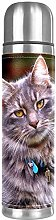 Thermos Cup Kids Cute Gray Cat Vacuum Cup
