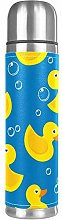 Thermos Cup Kids Yellow Duck Illustration Vacuum