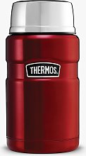 Thermos King Stainless Steel Food Flask, 710ml, Red