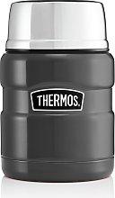 Thermos Stainless Steel King Gun Metal Food Flask
