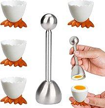 THETAG Egg Opener Egg Cup Set, Funny Egg Cup Set,