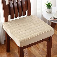 Thick Chair Seat Cushion, Quilted Micro Suede