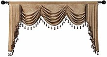 Thick Chenille Window Curtains Valance for Living