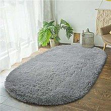 Thick Oval Carpet Bedroom Bedside Rug Living Room
