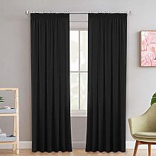 Thick Pencil Pleat Blackout Window Treatments