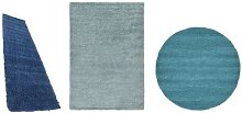 Thick Pile Soft Shaggy Area Rug: Navy
