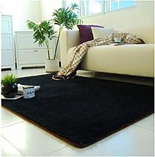 Thick Washed Silk Wool Carpet, Living Room, Coffee