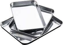 Thicken Stainless Steel Family Use Rectangle Tray