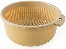 Thickened Double-Layer Kitchen Drain Basket Food