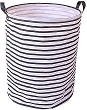 Thickened linen basket - with durable leather