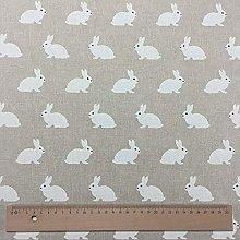 Thimbles Fabrics Bunnies Cotton Rich Linen Look